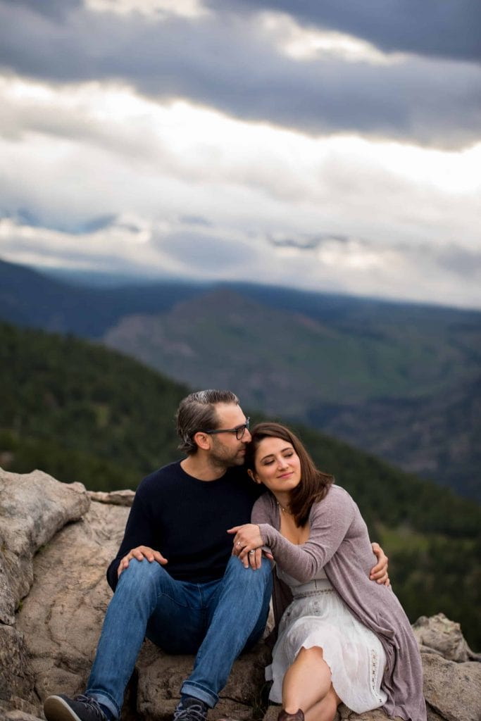 chautauqua engagement photography before the wedding at flagstaff house