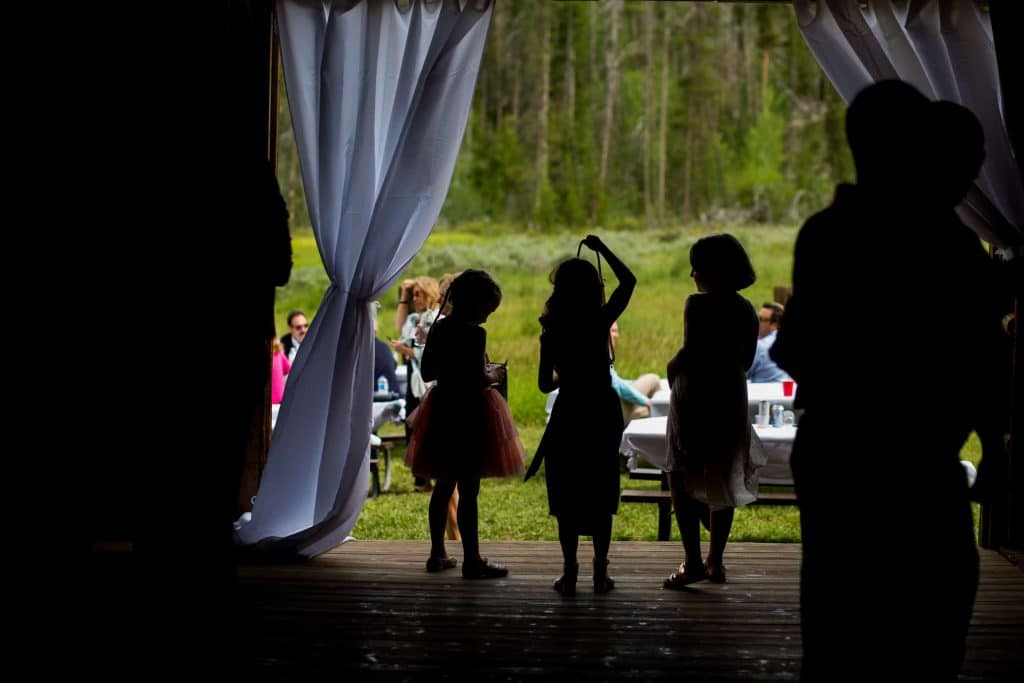 silohuette of kids at ceremony